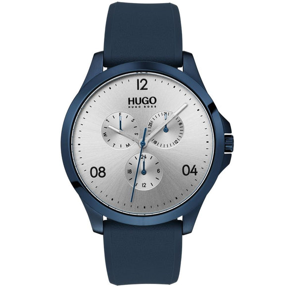 Hugo Risk Blue Silicone Men's Watch - 1530037