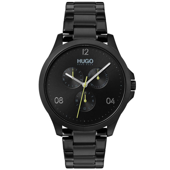 Hugo Risk Black Stainless Steel Men's Watch - 1530038