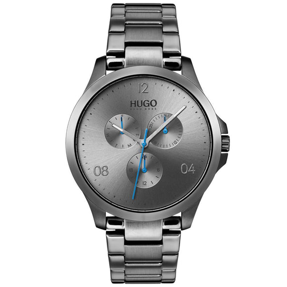 Hugo Risk Grey Stainless Steel Men's Watch - 1530039