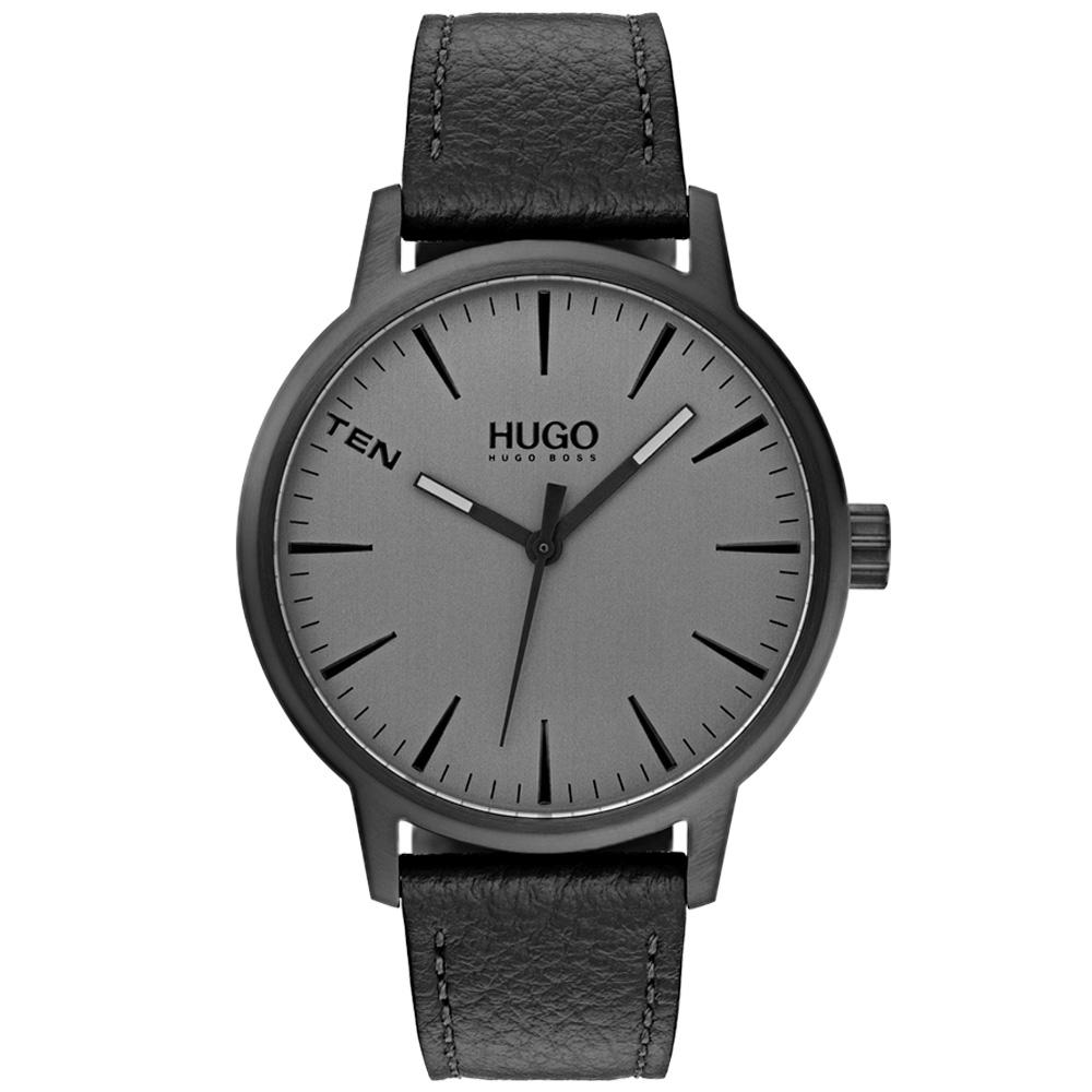 Hugo Stand Grey Leather Men's Watch - 1530074