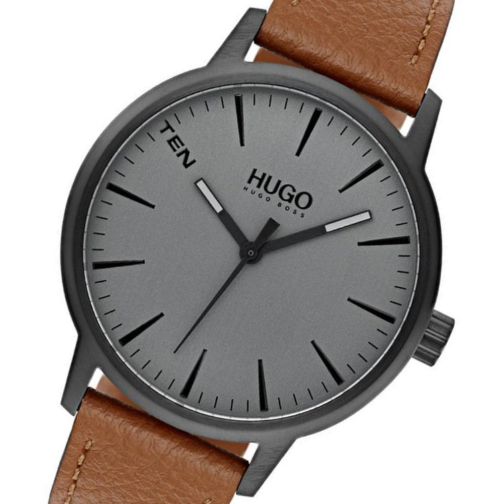Hugo Stand Brown Leather Men's Watch - 1530075