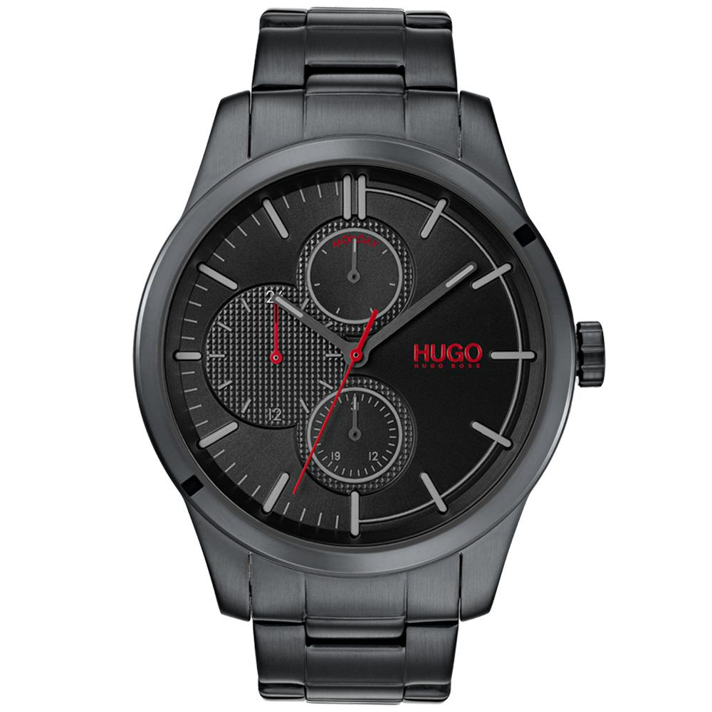 Hugo Discover Multifunctional Black Steel Men's Watch - 1530087