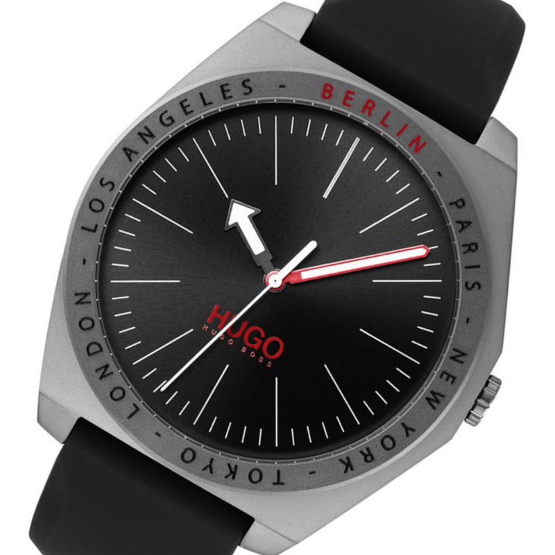 Hugo Act Black Silicone Men's Watch - 1530104