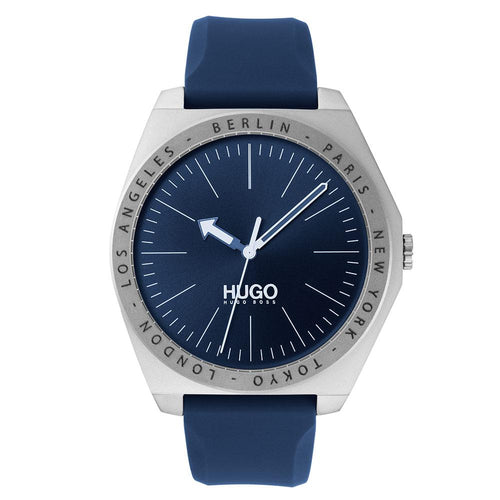 Hugo Act Blue Silicone Men's Watch - 1530105