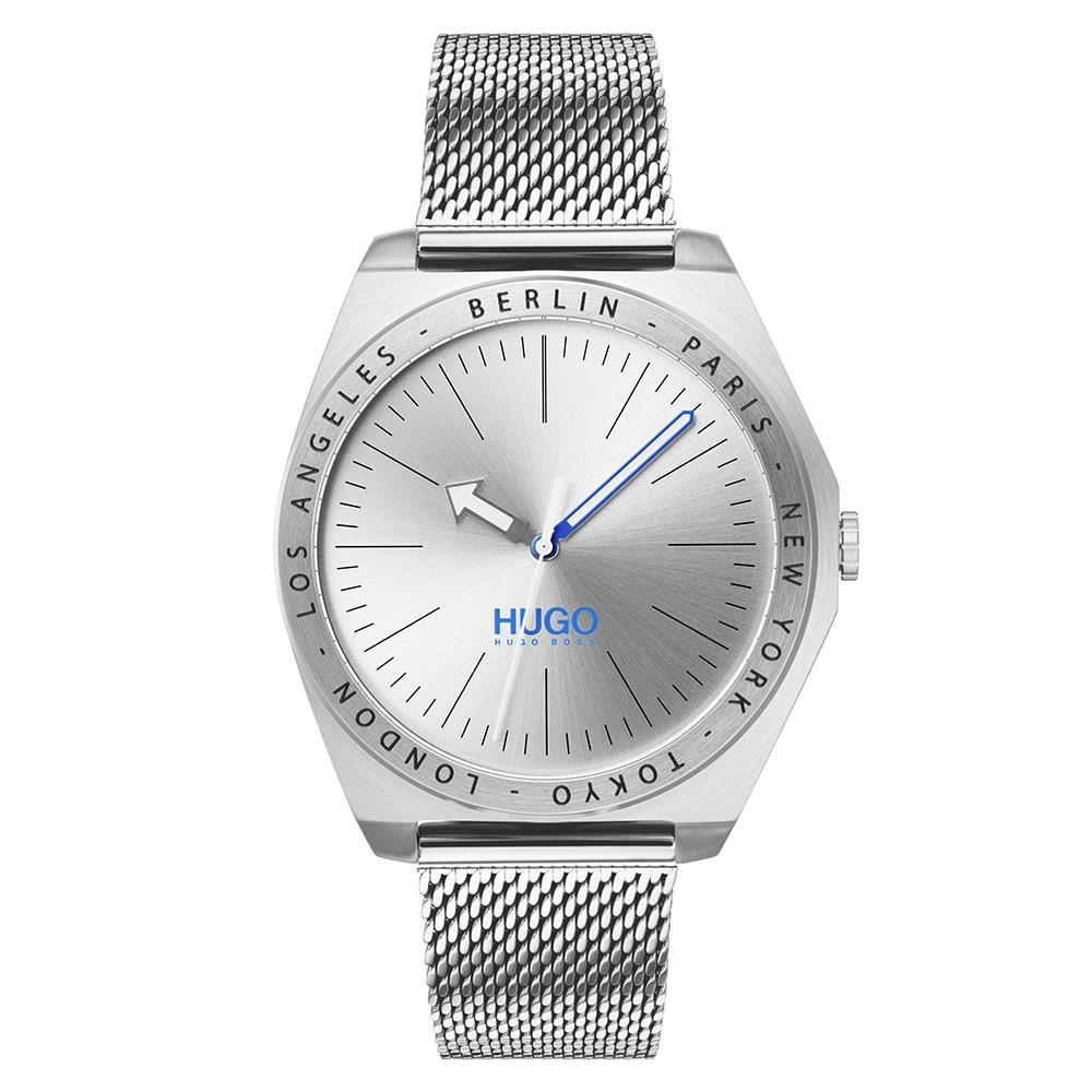 Hugo Act  Silver Mesh Men's Watch - 1530107