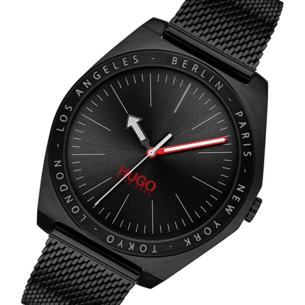 Hugo Act Black Steel Men's Watch - 1530108