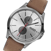 Hugo Jump Brown Leather Men's Multi-function Watch - 1530123