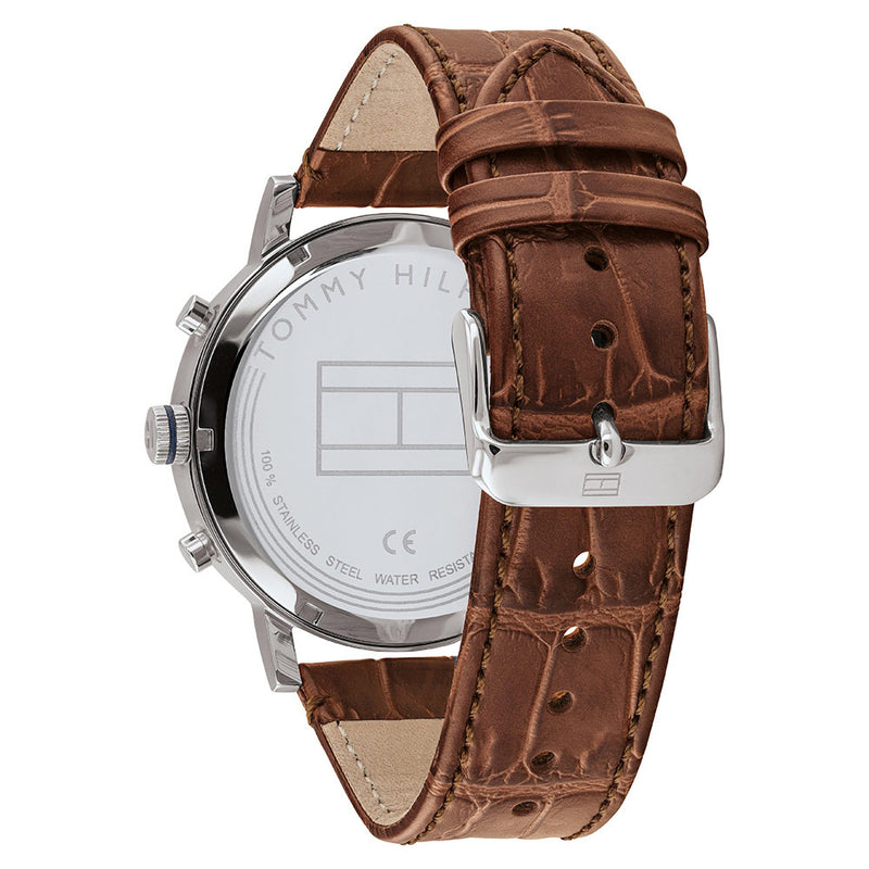 Tommy Hilfiger Brown Leather Men's Multi-function Watch - 1710393