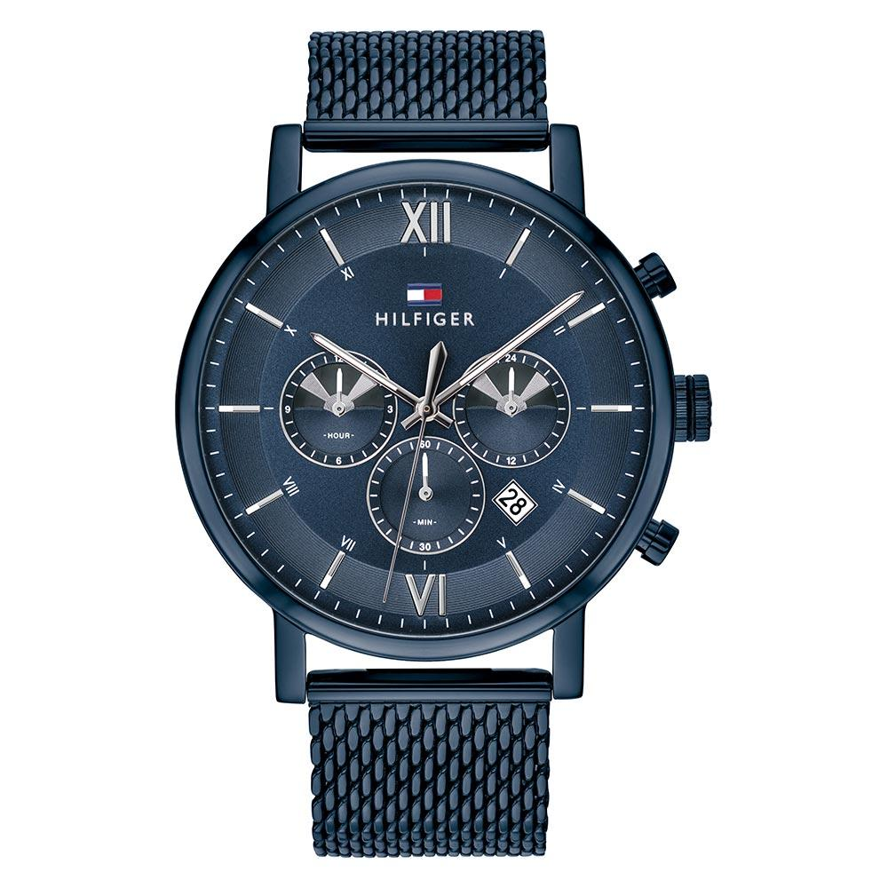 Tommy Hilfiger Blue Mesh Men's Multi-function Watch - 1710397