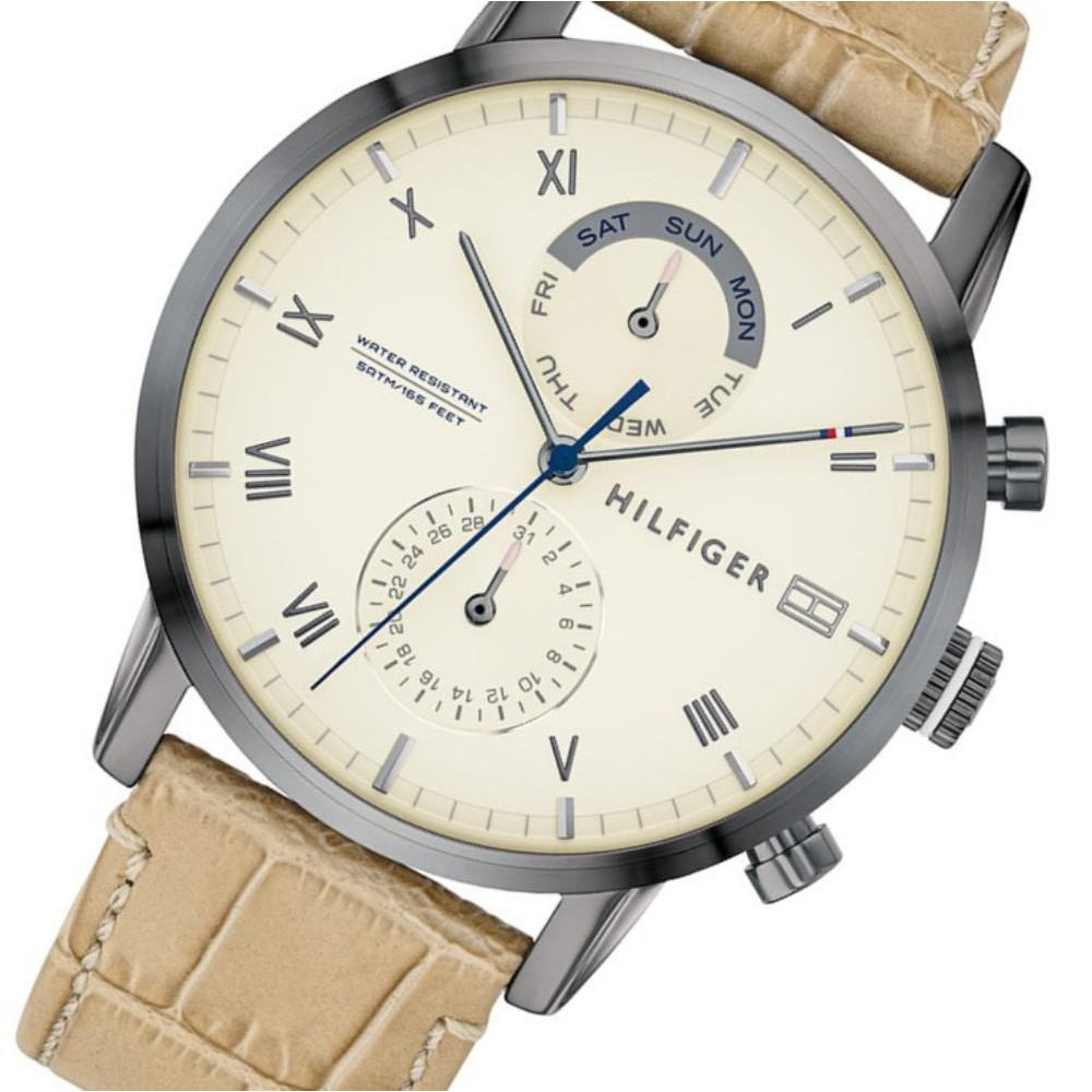 Tommy Hilfiger Multi-function Leather Men's Watch - 1710399