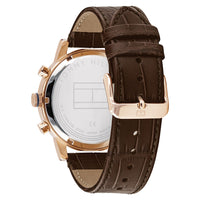Tommy Hilfiger Multi-function Brown Leather Men's Watch - 1710400
