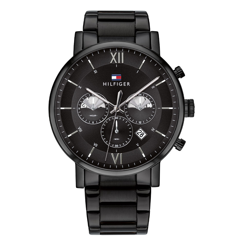 Tommy Hilfiger Black Steel Men's Multi-function Watch - 1710410
