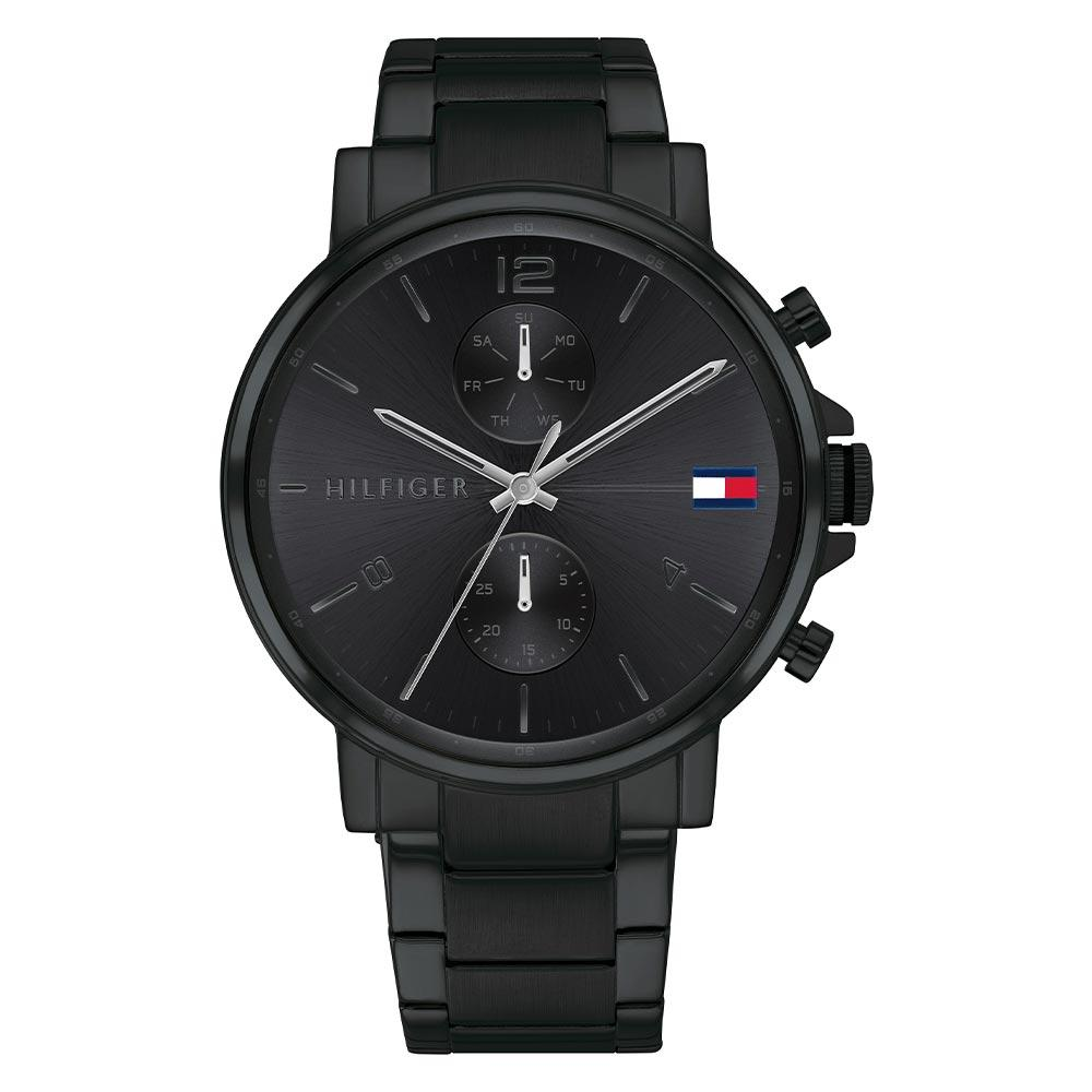Tommy Hilfiger Black Steel Men's Multi-function Watch - 1710414