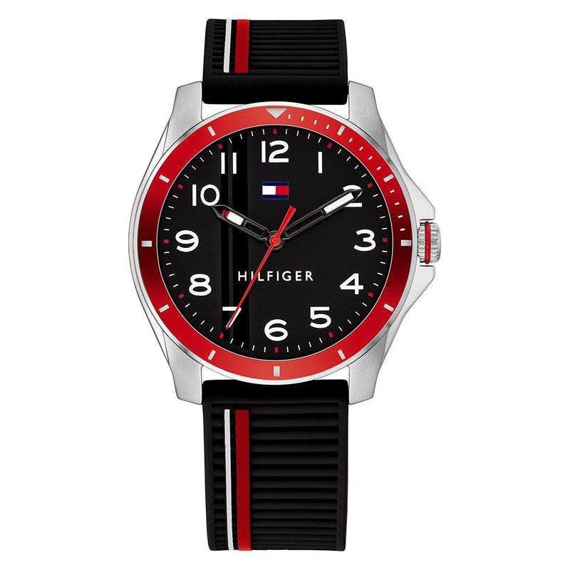 Tommy Hilfiger Black Silicone Band Kids Watch - 1720004