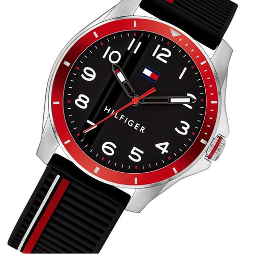 Tommy Hilfiger Kids Black Silicone Band Watch - 1720004