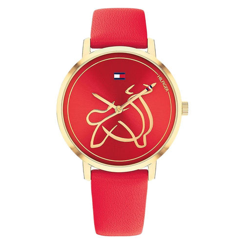 Tommy Hilfiger Year of the Ox Red Leather Watch - 1720012
