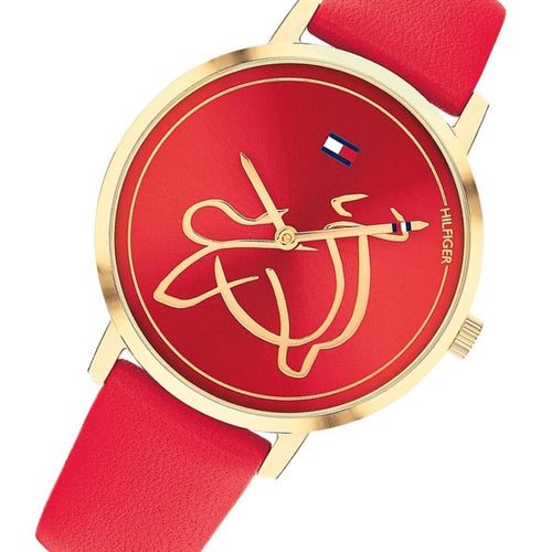 Tommy Hilfiger Year of the Ox Red Leather Unisex Watch - 1720012