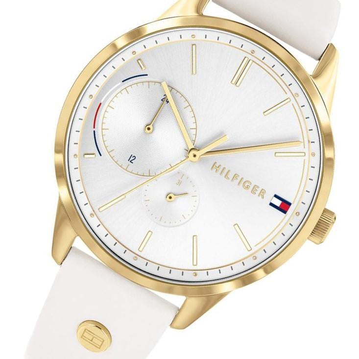 Tommy Hilfiger Casual White Leather Ladies Watch - 1782018