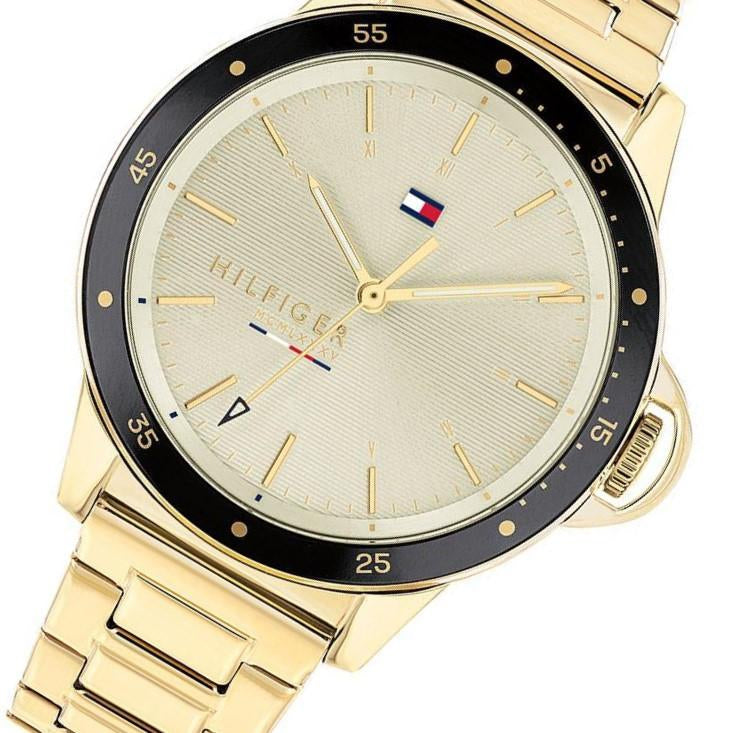 Tommy Hilfiger Gold Tone Steel Ladies Watch - 1782025