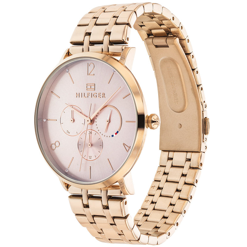 Tommy Hilfiger Multi-function Carnation Gold Steel Ladies Watch - 1782030