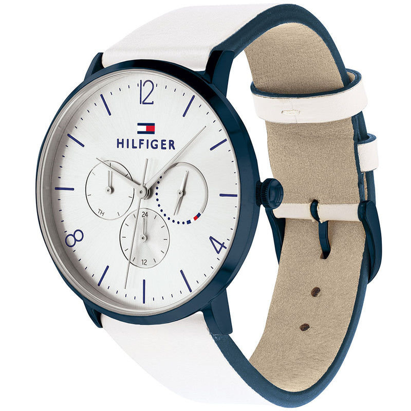 Tommy Hilfiger Multi-function White Leather Ladies Watch - 1782033