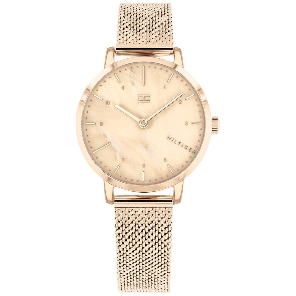 Tommy Hilfiger Carnation Gold Mesh Ladies Watch - 1782042