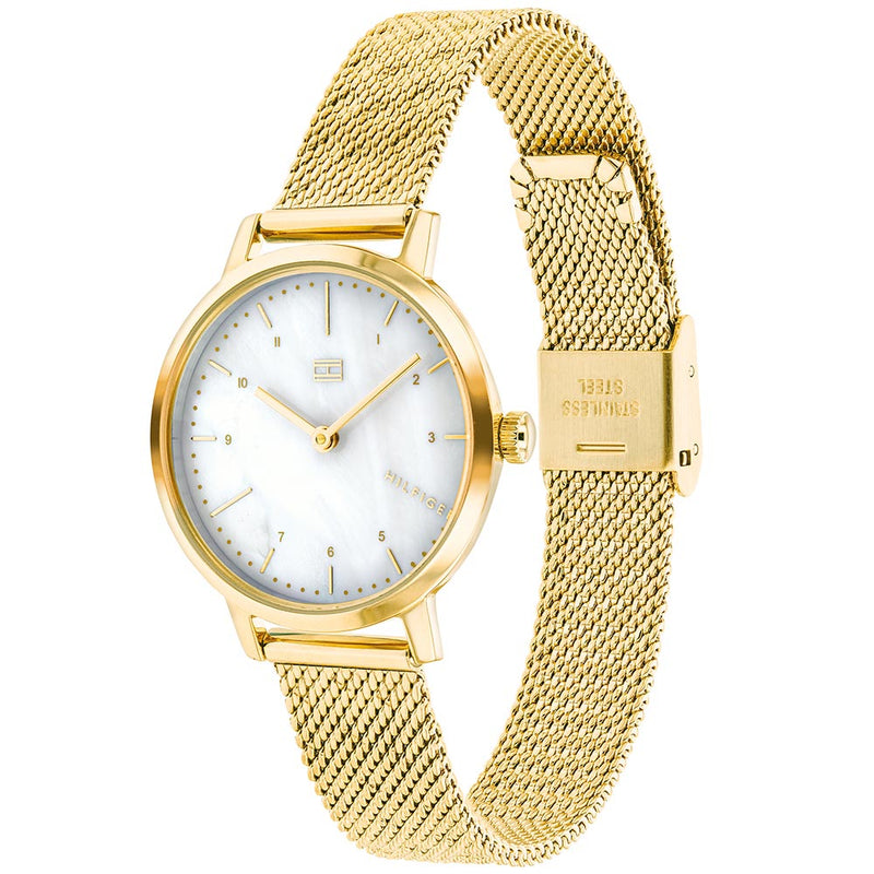 Tommy Hilfiger Gold Mesh Ladies Watch - 1782043