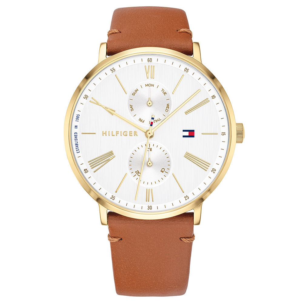 Tommy Hilfiger Multi-function Leather Ladies Watch - 1782073