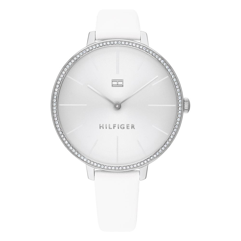 Tommy Hilfiger White Leather Ladies Slim Watch - 1782109