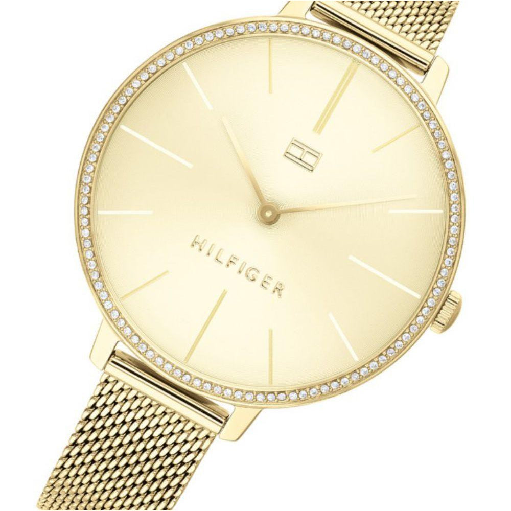 Tommy Hilfiger Gold Mesh Ladies Basic Slim Watch - 1782114