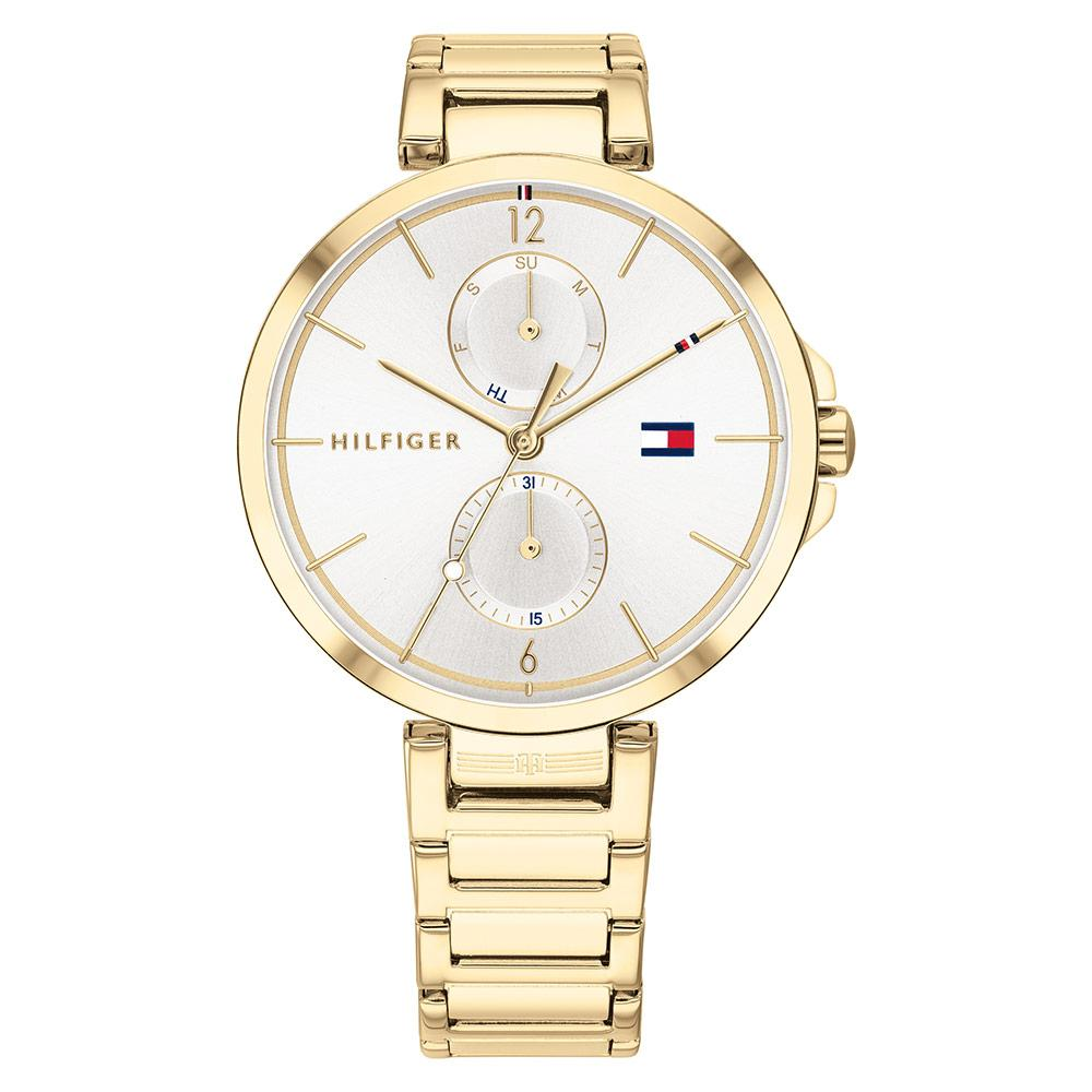 Tommy Hilfiger Multi-function Gold Steel Ladies Watch - 1782128