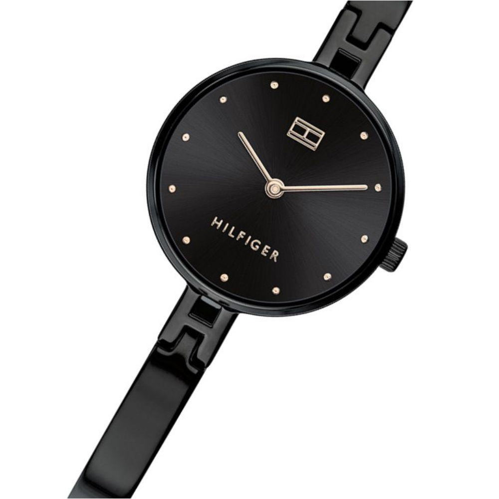 Tommy Hilfiger Black Steel Ladies Watch - 1782136