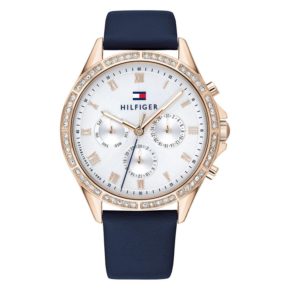Tommy Hilfiger Blue Leather Ladies Multi-function Watch - 1782140
