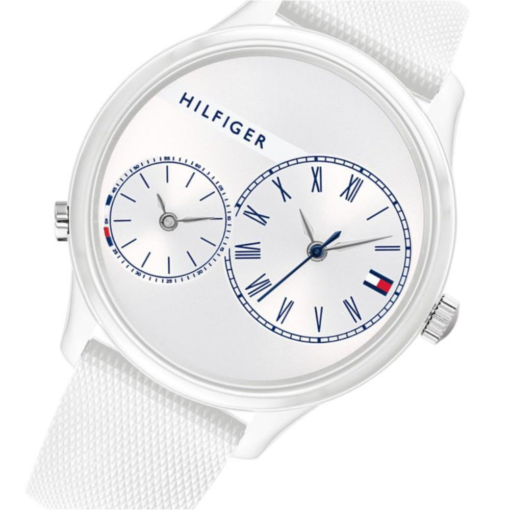 Tommy Hilfiger White Silicone Ladies Watch - 1782145