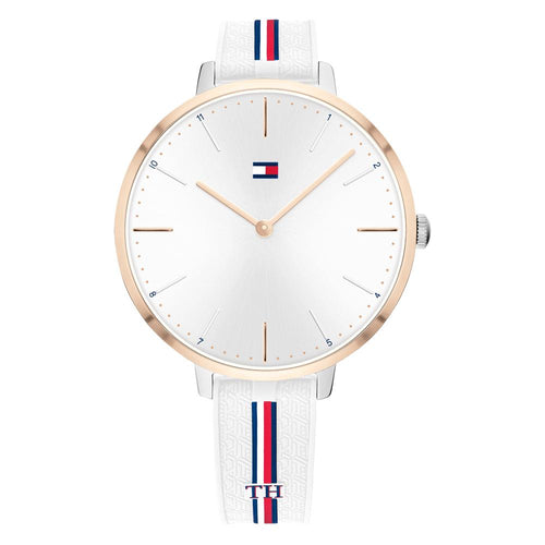 Tommy Hilfiger Alexa White Silicone Ladies Watch - 1782156