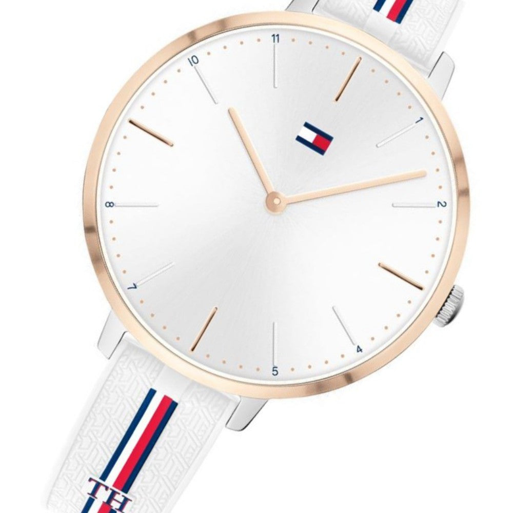 Tommy Hilfiger White Silicone Ladies Sports Watch - 1782156