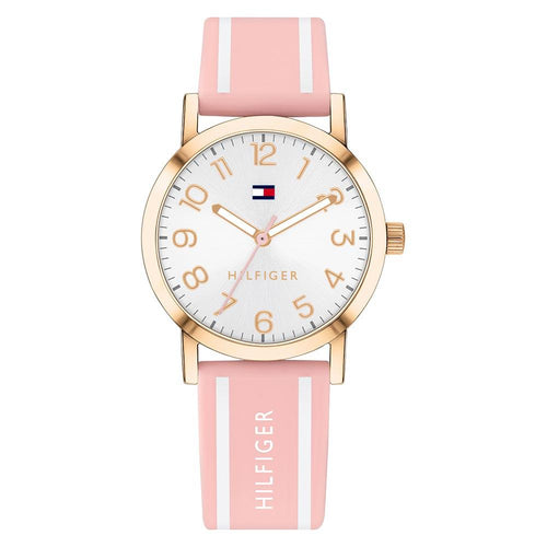 Tommy Hilfiger Pink Silicone Band Girls' Watch - 1782172