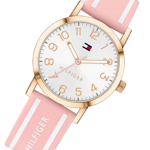 Tommy Hilfiger Pink Silicone Band Kids Watch - 1782172