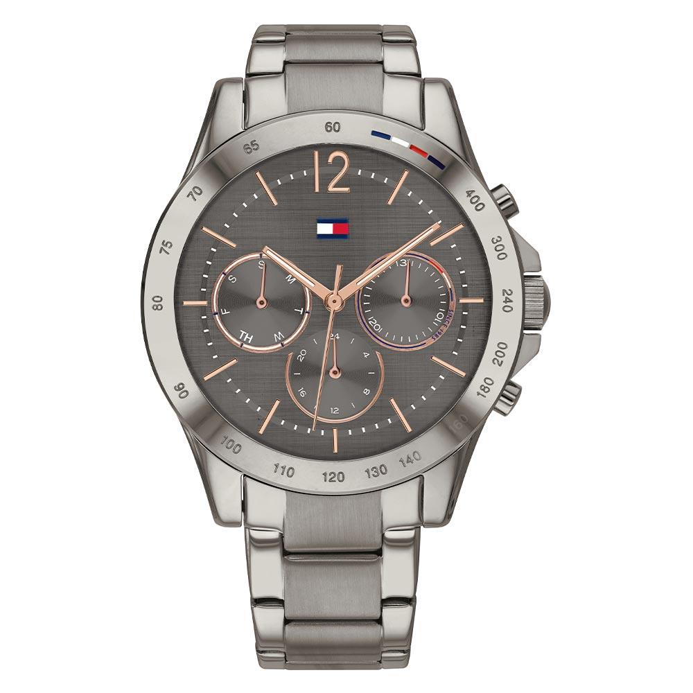 Tommy Hilfiger Grey Steel Ladies Multi-function Watch - 1782196