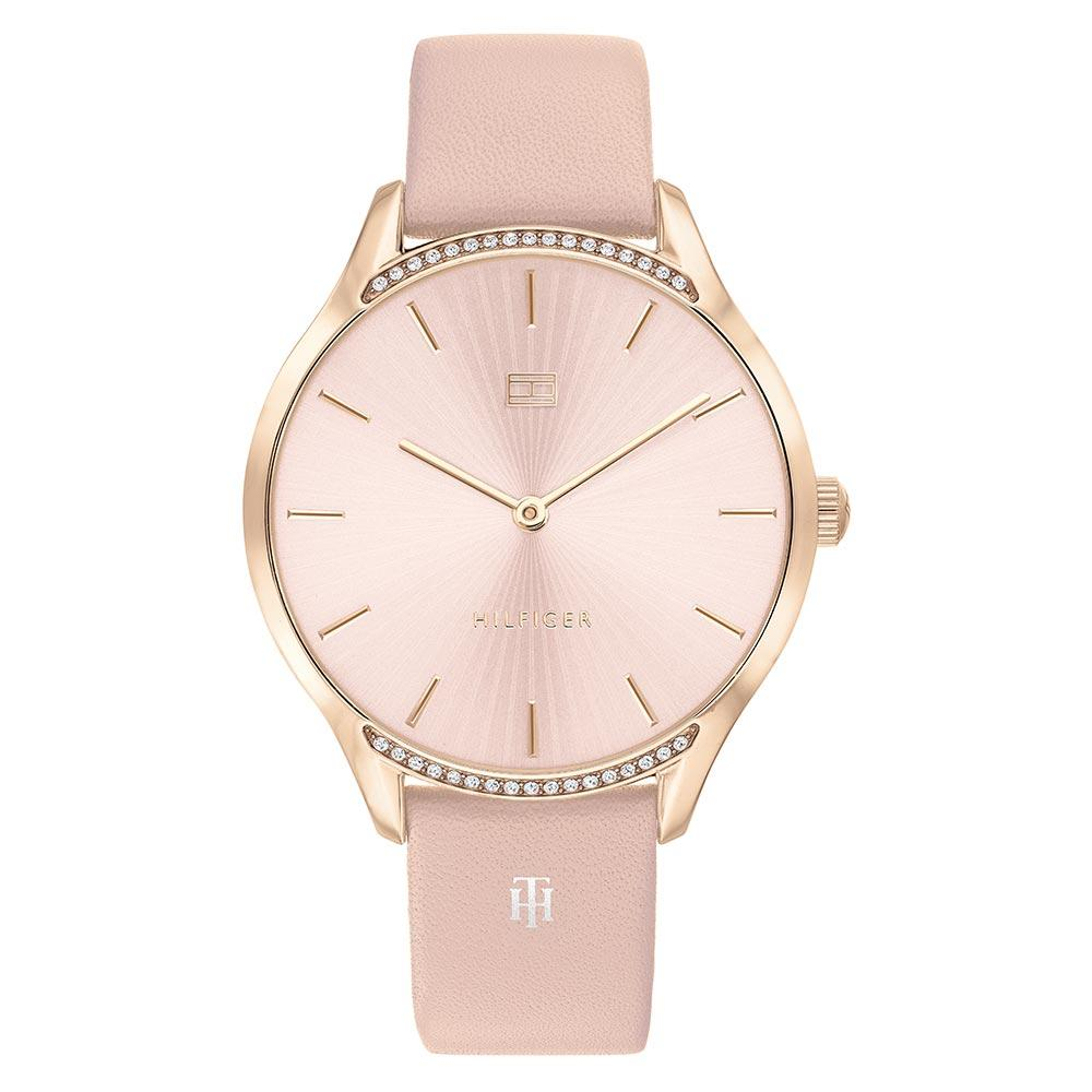 Tommy Hilfiger Pink Leather Ladies Slim Watch - 1782215