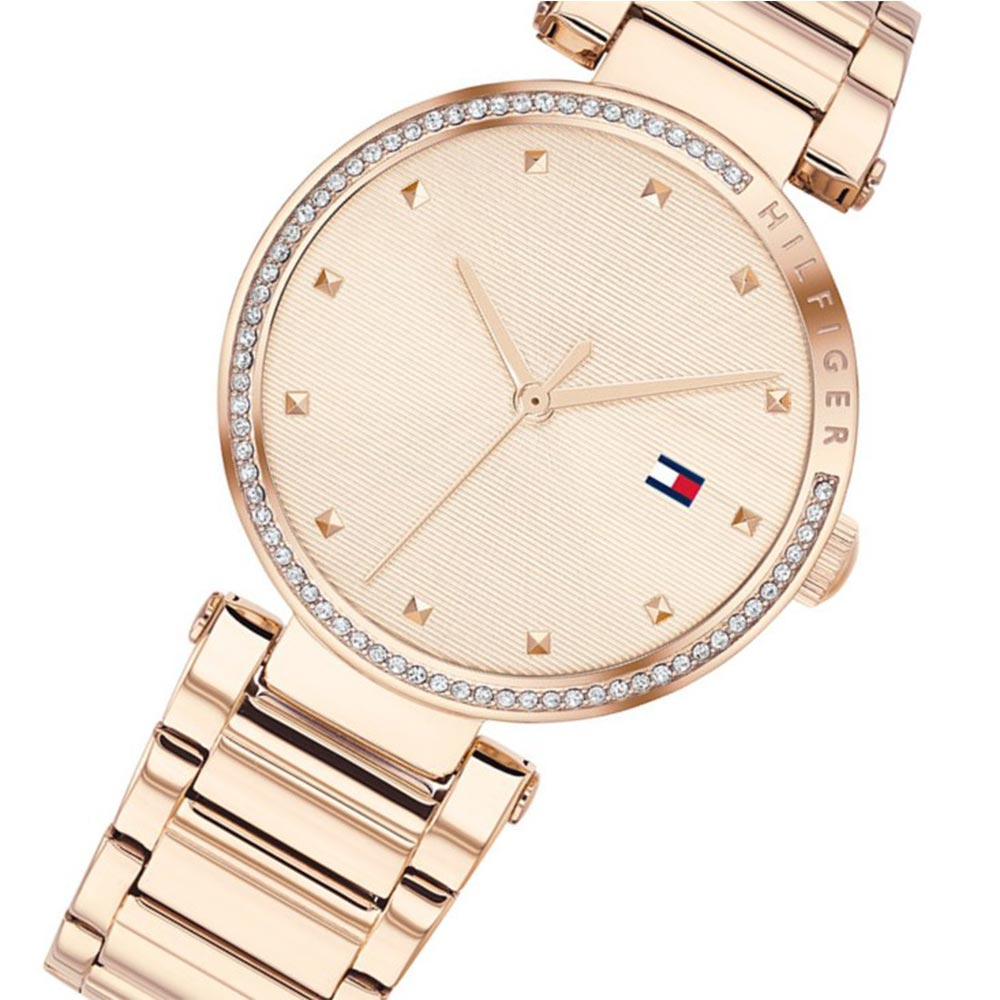 Tommy Hilfiger Carnation Gold Steel Ladies Watch - 1782237