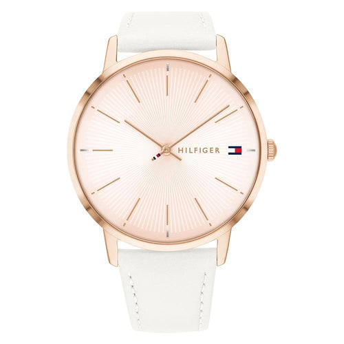 Tommy Hilfiger White Leather Ladies Watch - 1782248