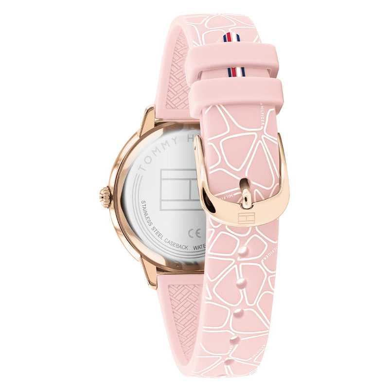 Tommy Hilfiger Essentials Blush Silicone Band Ladies Watch - 1782251