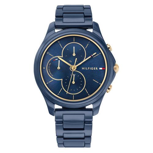 Tommy Hilfiger Navy Ceramic Ladies Multi-function Watch - 1782260