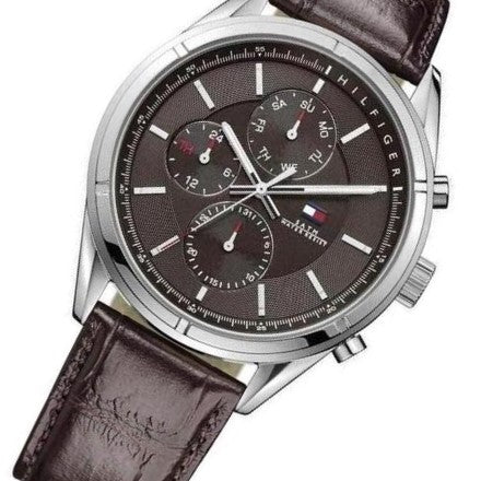 Tommy Hilfiger Leather Men's Watch - 1791126
