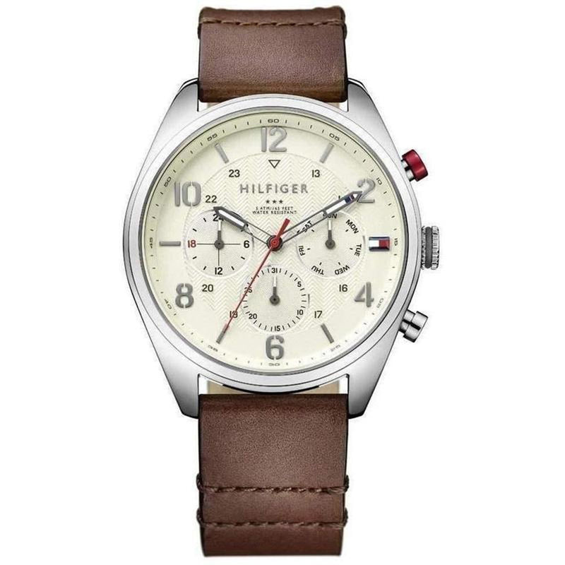 Tommy Hilfiger Men's Brown Leather Watch - 1791208
