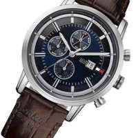Tommy Hilfiger Multifunction Blue Dial Leather Men's Watch - 1791244