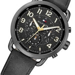 Tommy Hilfiger The Briggs Men's Black Leather Watch - 1791426