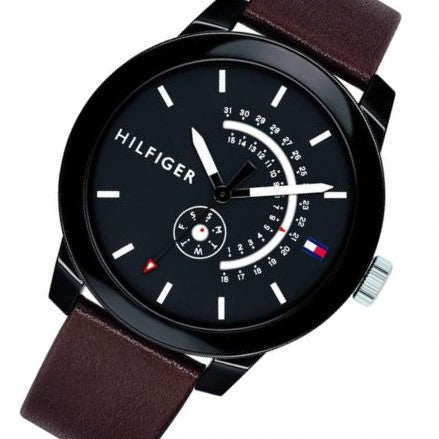 Tommy Hilfiger Men's Leather Sport Watch - 1791478