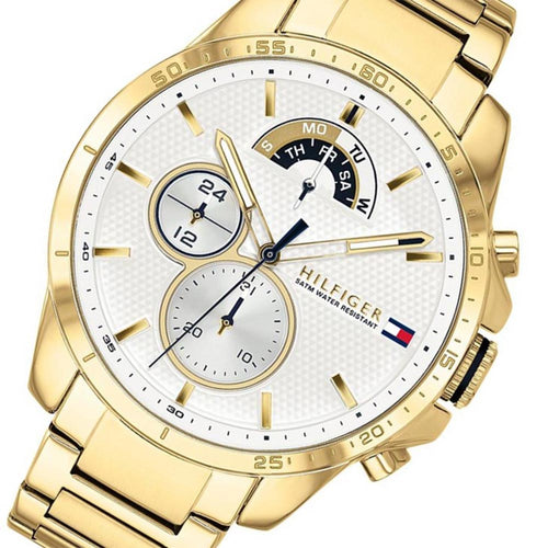 Tommy Hilfiger Gold Steel Men's Multi-function Watch - 1791538